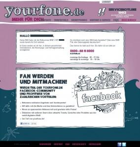 Yourfone Test: Vertragsverwaltung