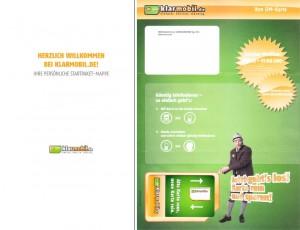 Klarmobil Sim-Karte und Willkommensbrief