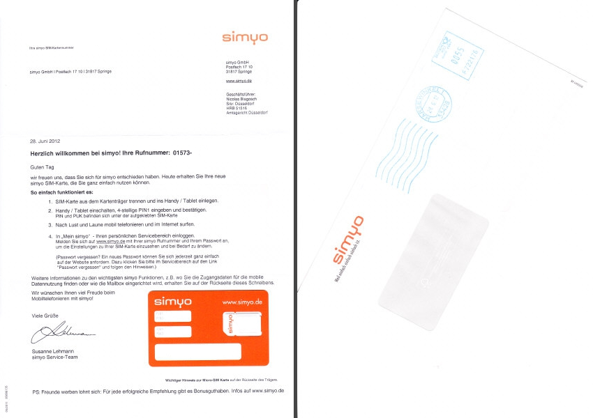 Erfahrungsbericht zum Mobilfunkanbieter Simyo