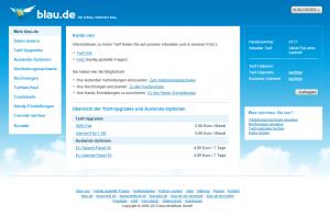 Blau.de Online-Servicebereich
