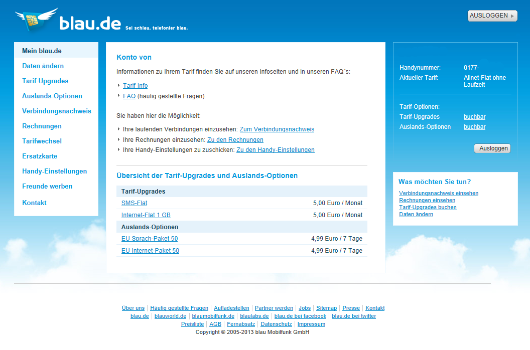 Blau De Rechnung Download