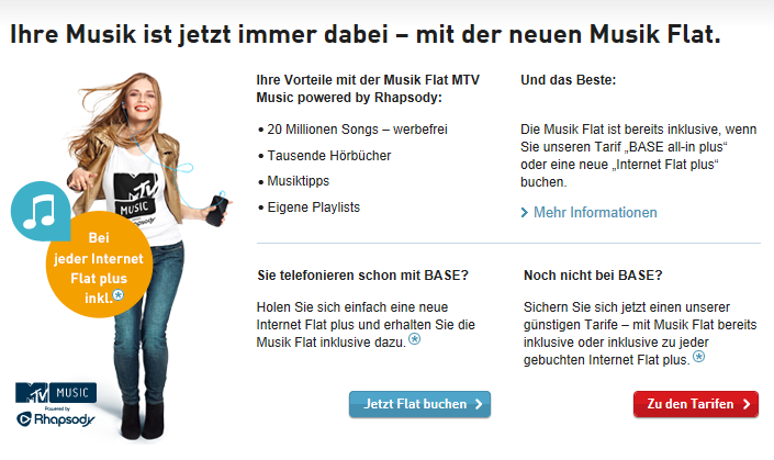 Base Allnet Flat mit Musik-Streaming