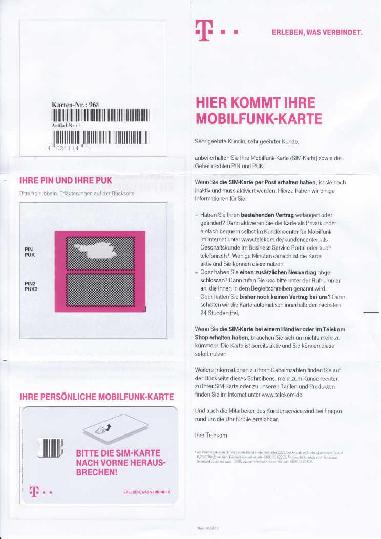 Telekom Karte Aktivieren.Telekom Magentamobil S Test Erfahrungen Bewertung