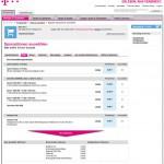 Telekom Datenoptionen Online-Portal