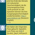 Telekom Drosselung Datapass Speedon Buchung