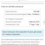 Speedon Datapass Bestätigung