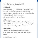 1und1 Highspeed Upgrade 500