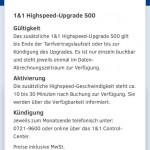 1und1 Highspeed Upgrade 500