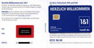 GMX WEB.DE 1&1 SIM PIN