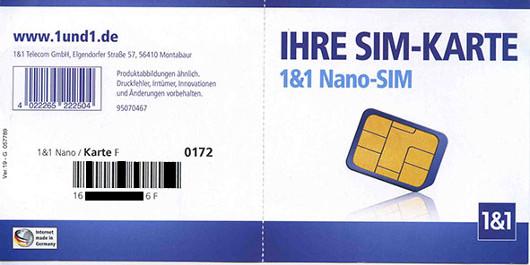 1 1 Nano Sim Karte Bestellen Kosten.Gmx Web De All Net Surf Handytarif Test Erfahrungen