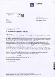 Willkommensschreiben GMX WEB.DE 1&1 Handytarif