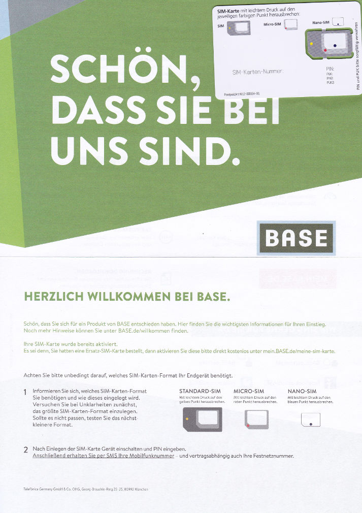 Base Light Brief Triple-SIM Karte